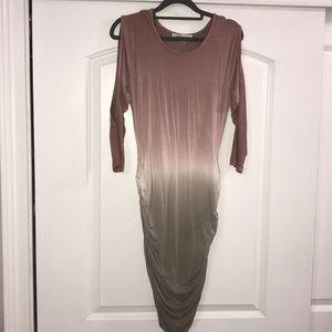 Young fabulous and Broke Shirred Mini Dress